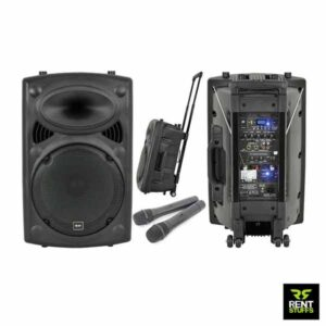 Portable Sound System with 2 FM Microphones for Rent