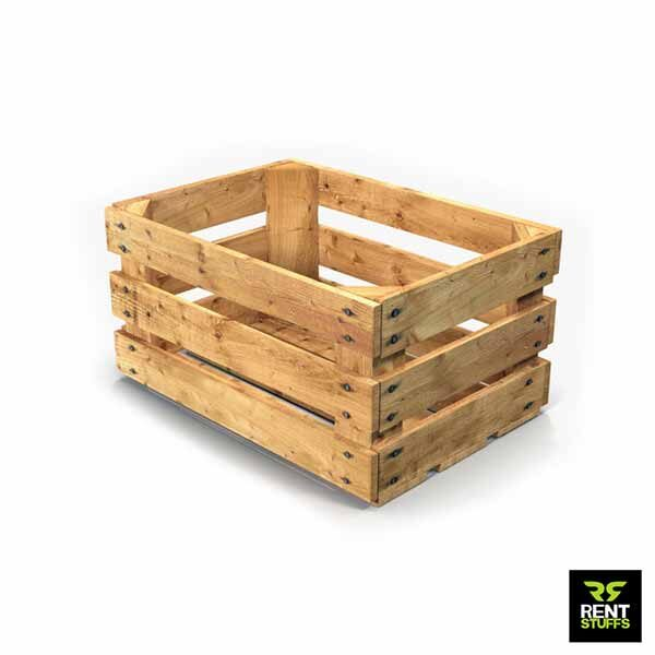 Rustic finish wooden Crates for rent