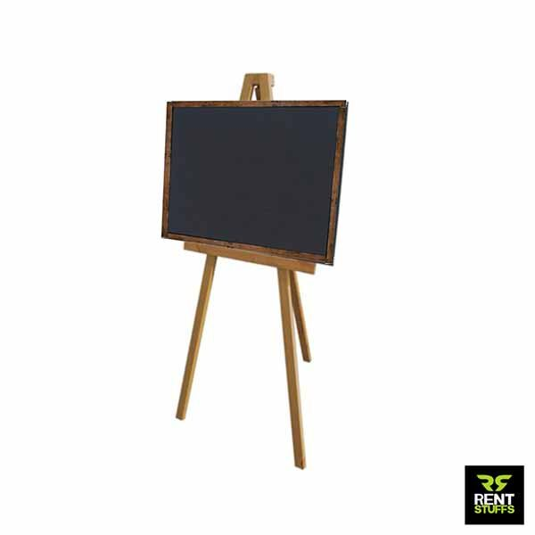 Black Board rent with Wooden Stand Chalk Board