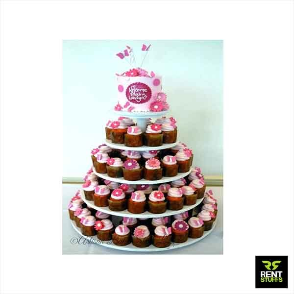 Cup Cake Stands for rent in Sri Lanka by Rent Stuffs.