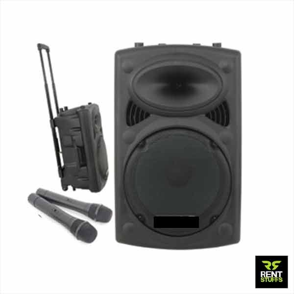 Portable Speaker for Rent with FM Microphones