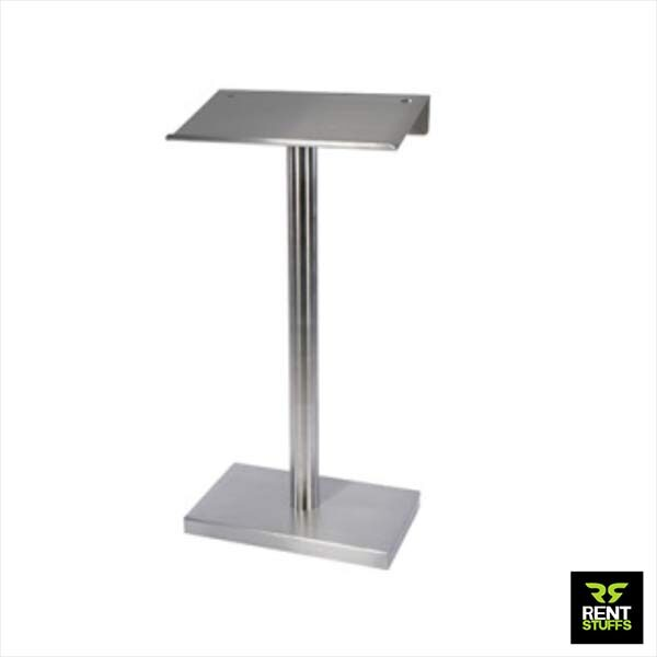 Stainless Steel Basic Podium for rent or Sale