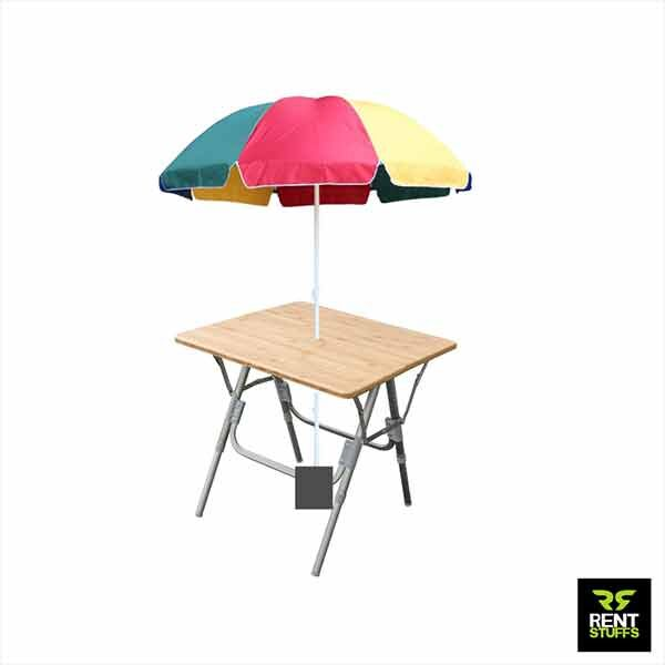 Umbrella with Folding Table for Rent