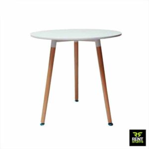 White Discussion Table for Rent