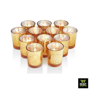 Gold Mercury Glass Candle Holders Rent