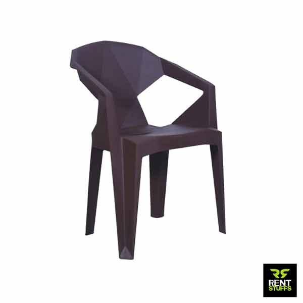 Plastic Chair for Rent Black