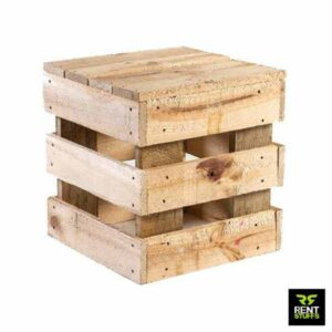 Rustic Pallet Wooden Stool For Rent