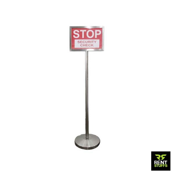 Stainless Steel Notice Stand for Rent
