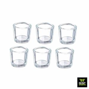Thick Glass Tealight Candle Holders Rent