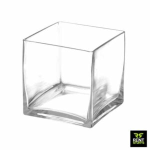 Glass Squire Cube Vases for Rent in Sri Lanka
