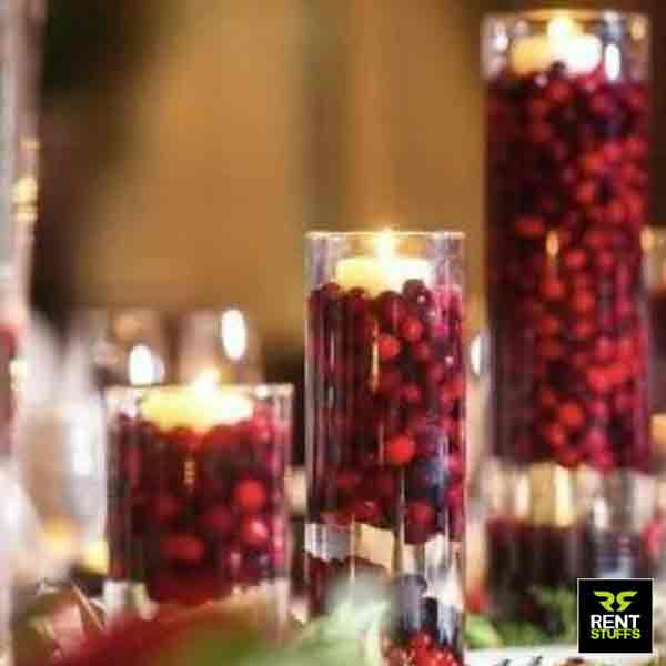 Glass Cylinder Vase for Rent in Sri Lanka by Rent Stuffs