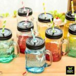Mason-Jars-with-Straws-for-rent