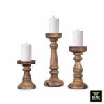 Wooden Candle Holders for rent in Sri Lanka