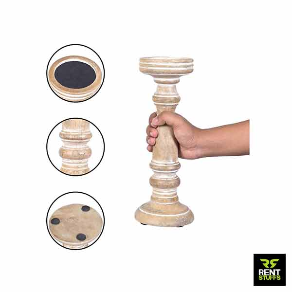 Wooden Candle Holders for rent in Sri Lanka for Wedding