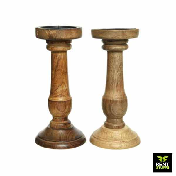 Wooden Candle Holders, Stands for rent in Sri Lanka