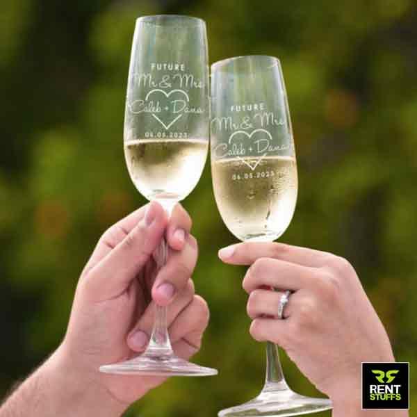 Champagne Flute glass for Rent in Sri Lanka