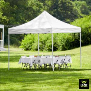 White Canopy Tent for Rent in Sri Lanka By Rent Stuffs