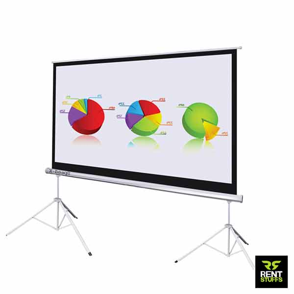 Projector Screens for rent in Sri Lanka 10×12 by Rent Stuffs