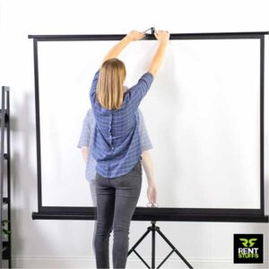 Projector Screens for rent in Sri Lanka by Rent Stuffs