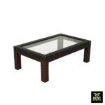 Glass Wooden Coffee Table for Rent