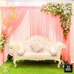 Golden White Wedding Couple Chair rent