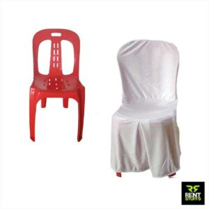 Plastic Chairs with Covers for Rent in Colombo