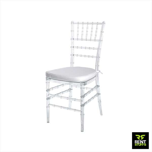 Transparent Tiffany Chairs for rent in Sri Lanka