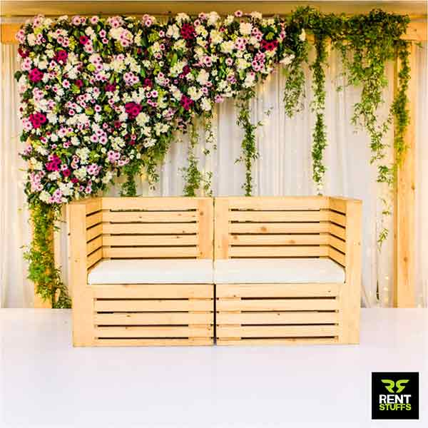 Wooden Couple chair for rent